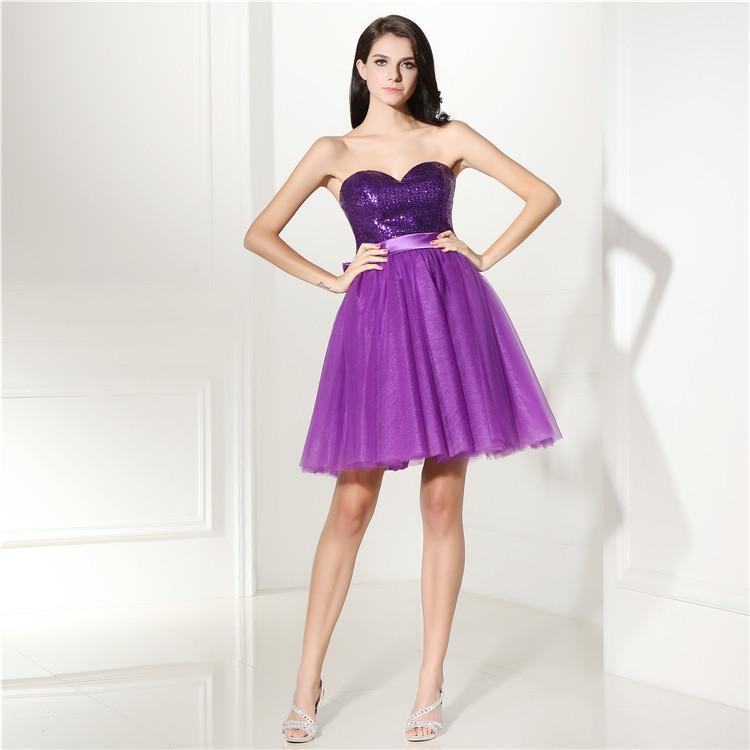 Venta al por mayor vestidos de dama largos morados-Compre online los ...