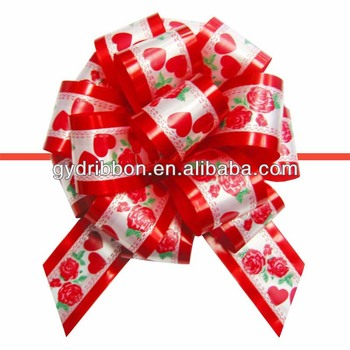 Christmas Decoration Pull Ribbon Bow With Printing,Fancy Bow,Egg ...