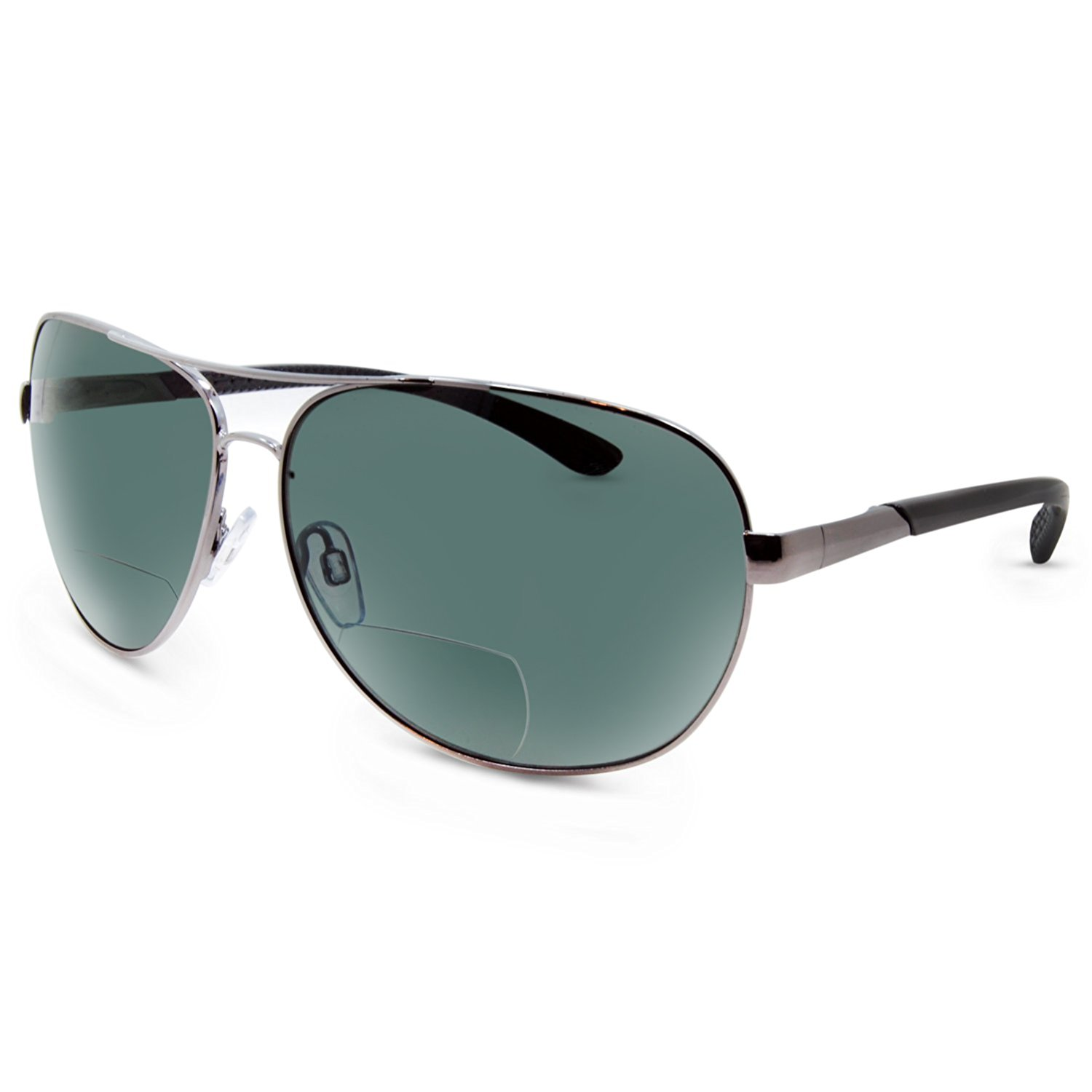 a99e6506d6 Get Quotations · In Style Eyes C Moore Polarized Aviator Nearly Invisible  Line Bifocal Sunglasses