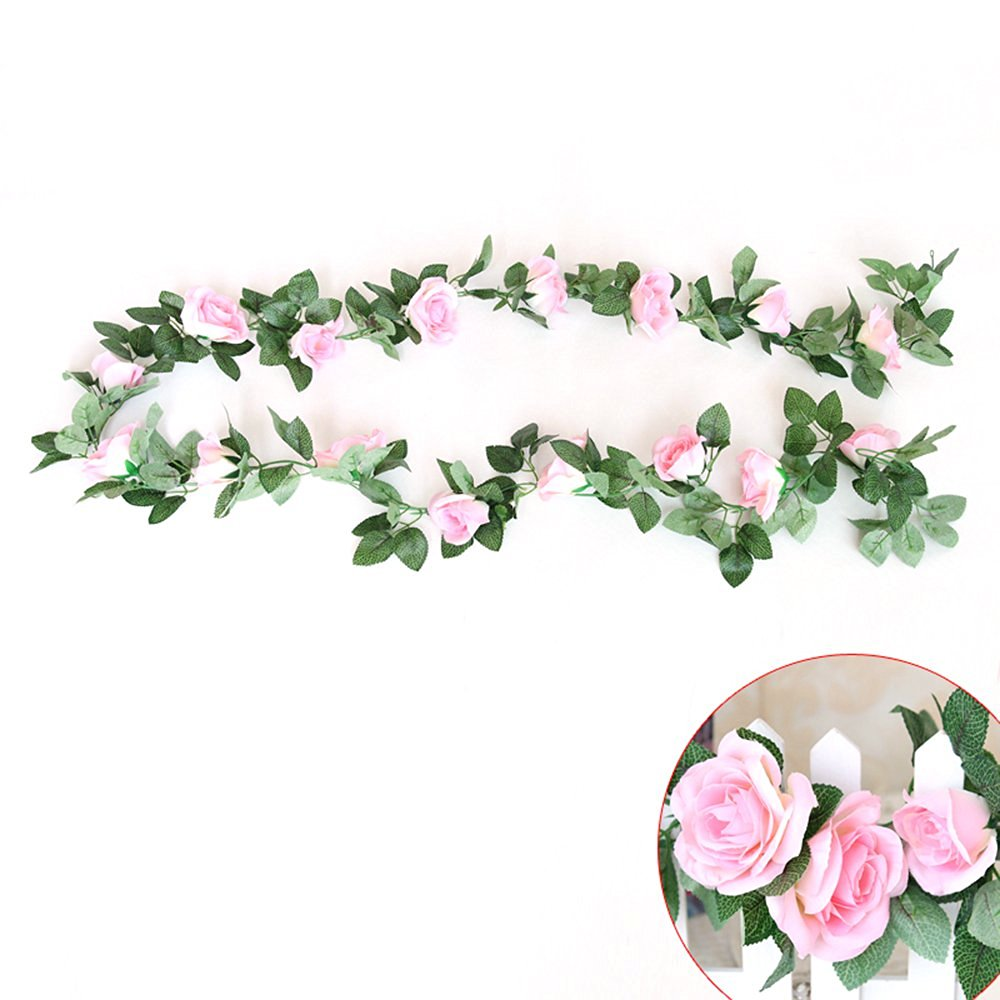 Buy Pastel Tone Five Rose Flowers Garland Stretch Headband Hair Band