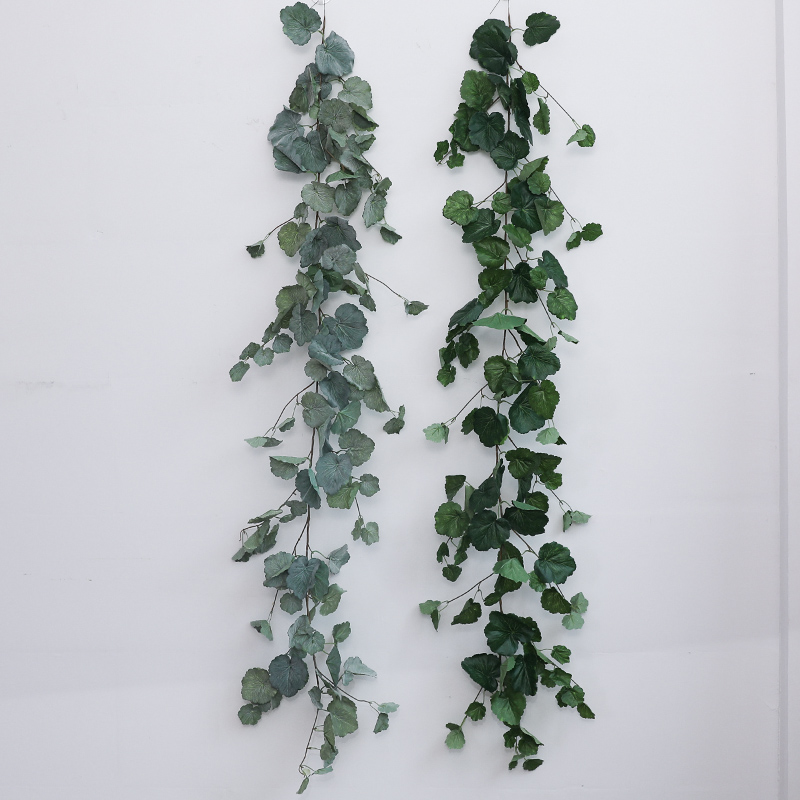 Artificial & Dried Flowers Artificial Decorations 2pcs 1.7m Long Green Artificial Ivy Vine Leaves Garland Plants Rattan Fake Foliage Home Wedding Party Decoration 2 Styles
