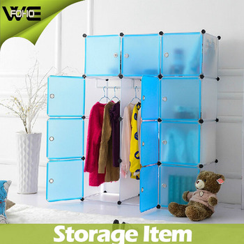 Portable Waterproof Transparency Furniture ClosetKids Plastic Wardrobe Closet
