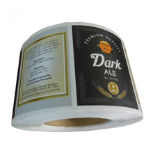 Personalized Paper Sticker Printing Roll Adhesive Private Label Beer