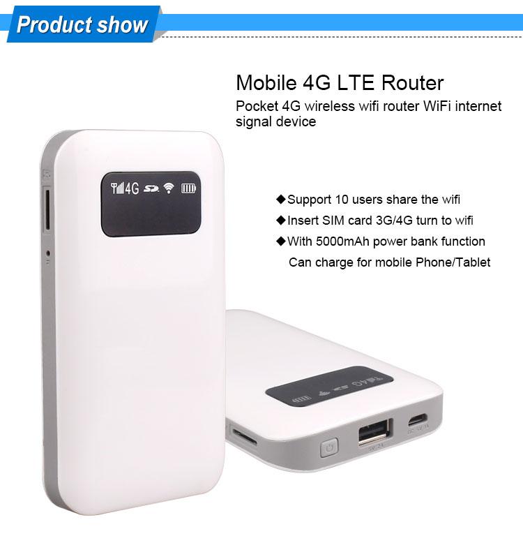 Portable 4g Lte Wifi Hotspot Share Travel Wireless Router