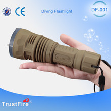 Hunting knife TrustFire fishing equipment DF001 Led diving light, waterproof rechargeable Led flashlight,diving tool scuba light