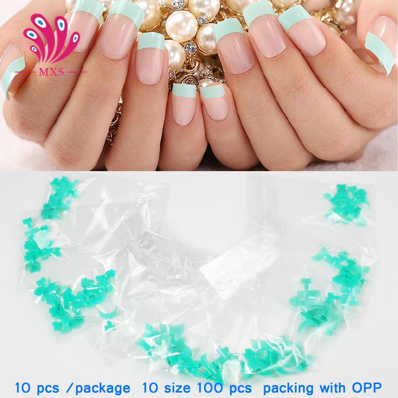 Pinpai 100pcs False French Nail Tips Natural Acrylic Half Cover