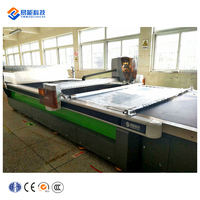 Auto-sharpening straight knife industrial cloth fabric automatic cutting machine