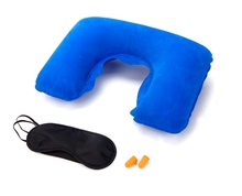 Portable Inflatable Medicine Pillow Neck Rest Air Cushion With eye mask