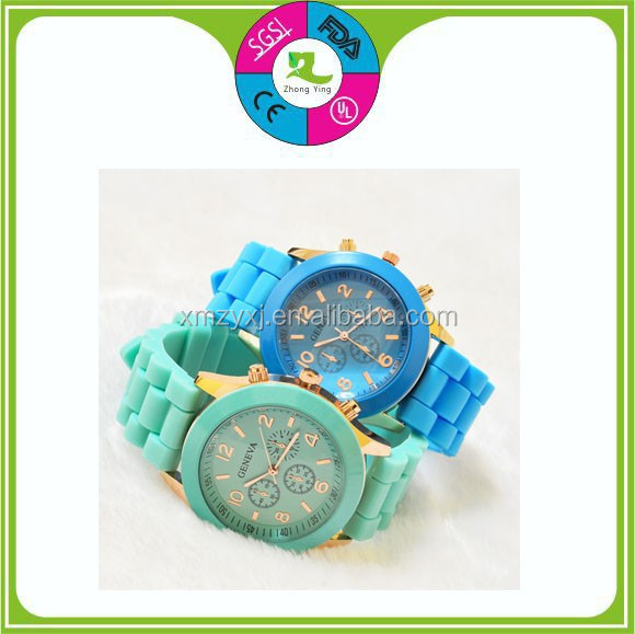 unisex stylish vogue silicone watch,hot reloj geneva silicone