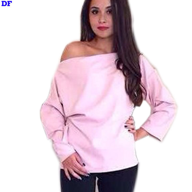 09116f49d07 Get Quotations · Long Sleeve T Shirt Women Harajuku Loose Pullover Top Pink  Blue Yellow Sexy Party T-