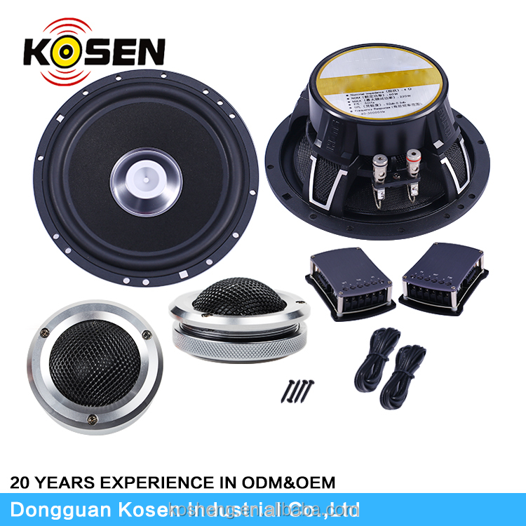 "Excellet 2 way 6.5"" car component speaker 28mm silk tweeter use in car audio system"