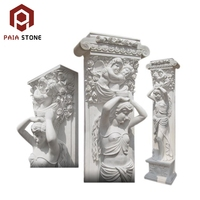 Factory Beautiful Stone Carved Luxury Indoor Marble Stone Roman Column
