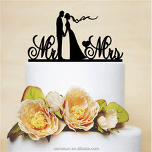 Mr & Mrs acrylic wedding cake stand topper