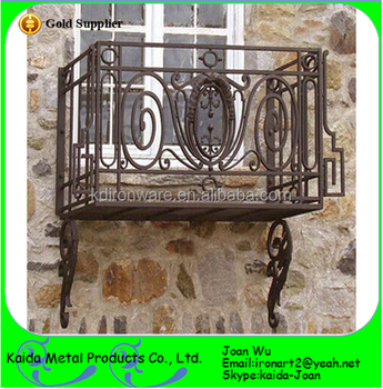 Small Exterior Wrought Iron Balcony Railings Design