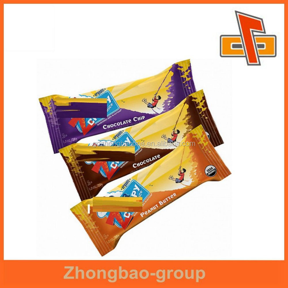 ZhongBao back sealed aluminum foil food packing bag for candy