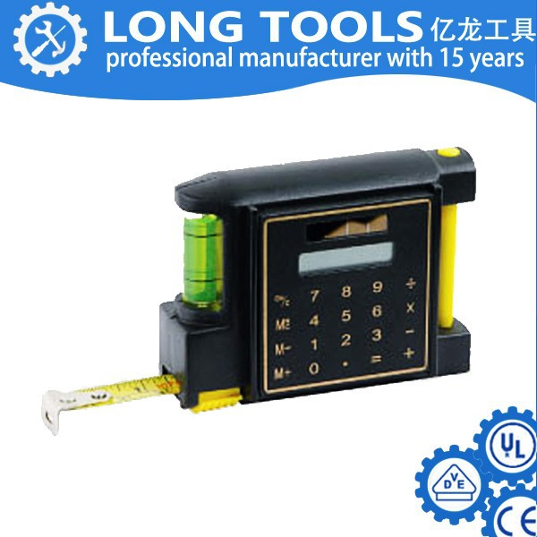 plastic 4 in 1 multifunction mini promotion steel tape measure with memo pad & ball pen & level