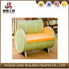 New design melon- colored steel oil drum bench