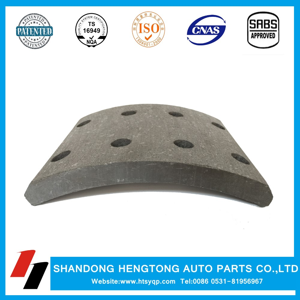 China best selling high performance top quality ceramic brake lining for truck