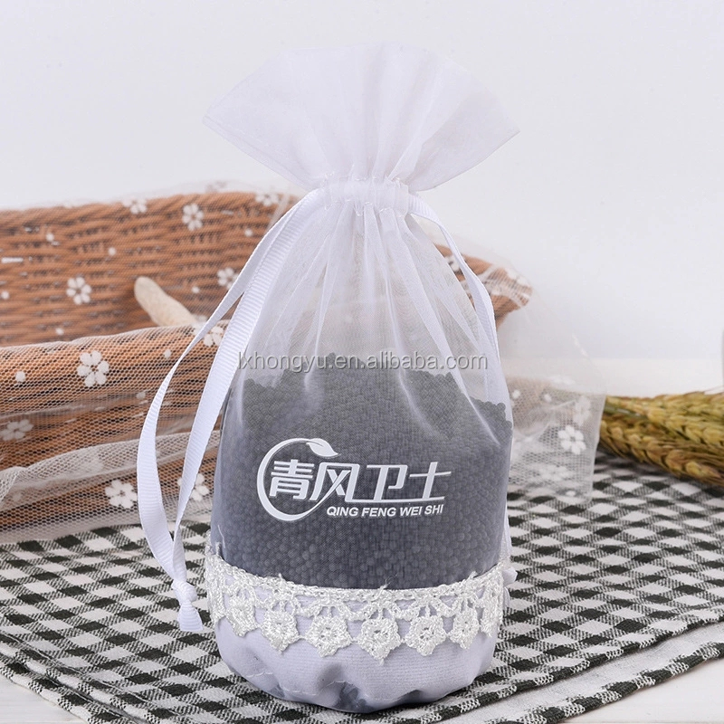 Rose lace bag pure white round bottom organza packing bags