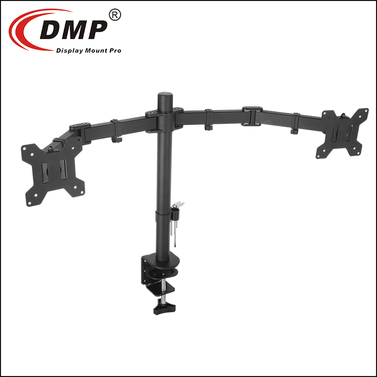 MDM3202 Dual LCD LED Monitor Desk Mount Stand Heavy Duty Fully Adjustable fits 2/Two Screens up to 32""