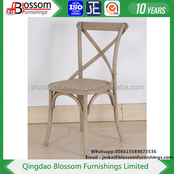 White Washed Stacking Cross Back Chair X Back Chair