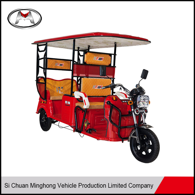 High quality electric passenger tricycle e rickshaw adult tricycle