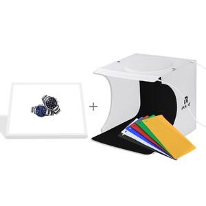 OEM PULUZ Mini 22.5 LED Photography Shadowless Bottom Light Lamp Panel Pad +2LED Panels 20CM lightbox Photo Studio Shooting Tent