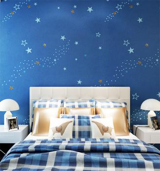 Good Lightfastness Latest Star Pattern Design Bedroom Wallpaper For Kids -  Buy Star Pattern Design Wallpaper,Bedroom Wallpaper,Latest Wallpaper ...