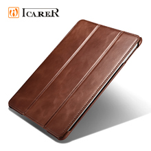 ICARER Classical Genuine Leather Case for New iPad 9.7