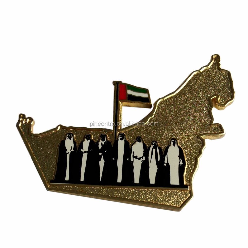 UAE country map with sheikh badges/ UAE national day badges