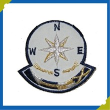 Nauticall Marine Anchor Compass Embroidery Jacket Reflective Patch