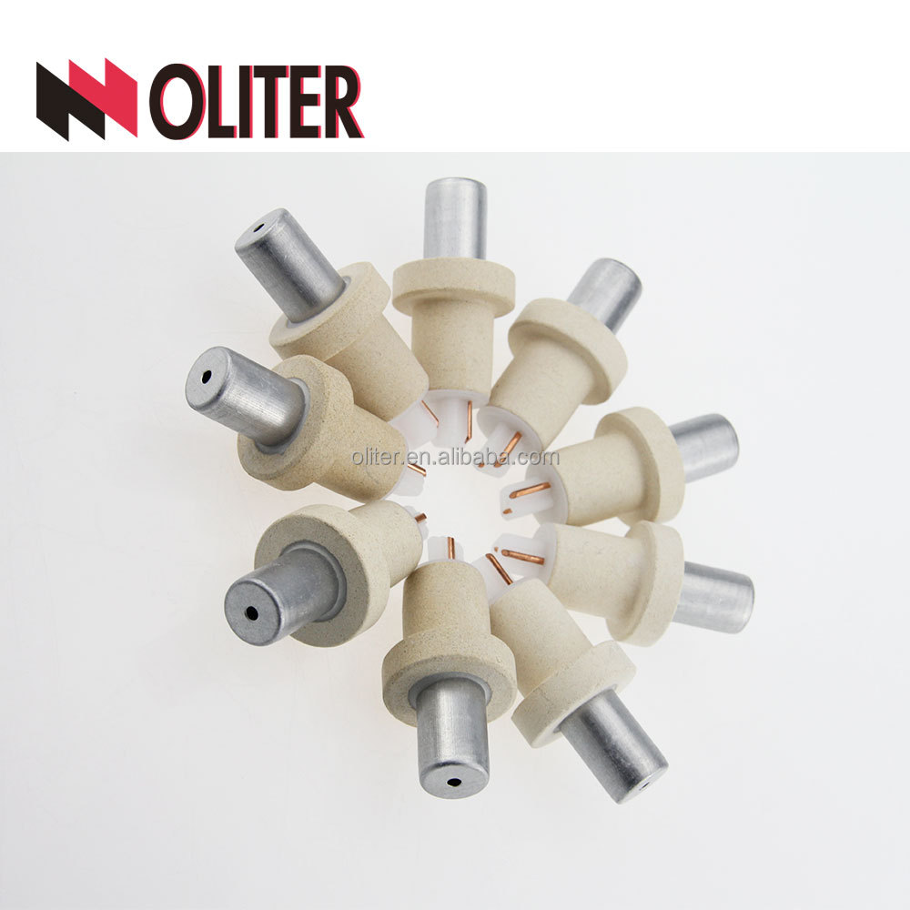 OLITER pt-rh immersion consumption rapid response type expendable thermocouple for high <strong>temperature</strong> with 604 triangle tip