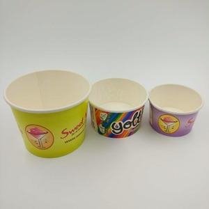 Custom cold smoothie paper ice cream frozen yogurt cup