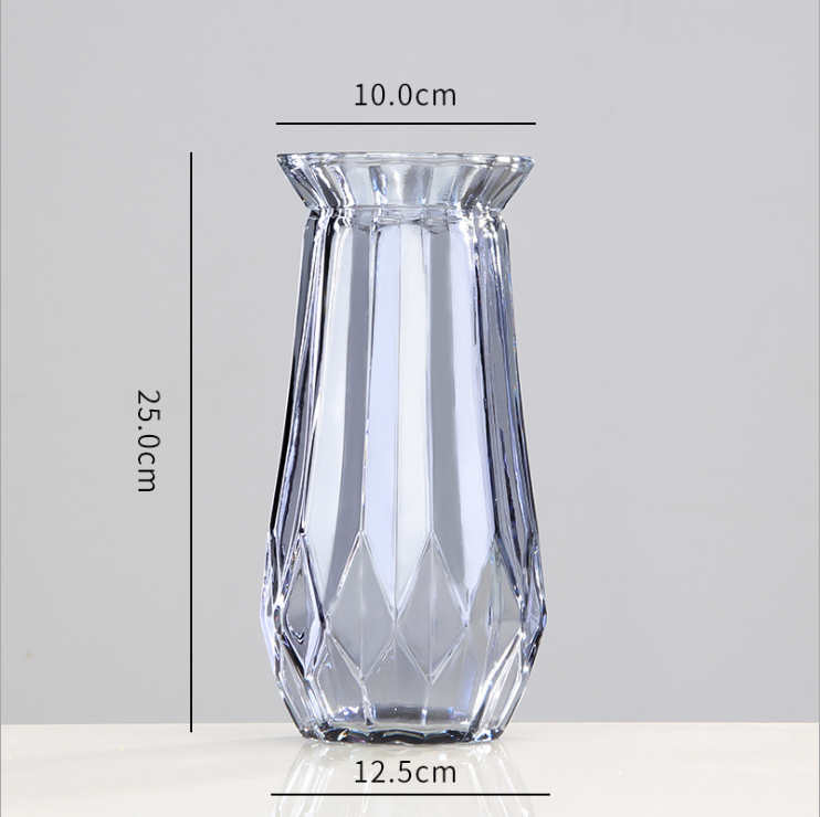 Nordic round decoration colorful clear Furniture crystal Glass Vase for home decor wedding dinning