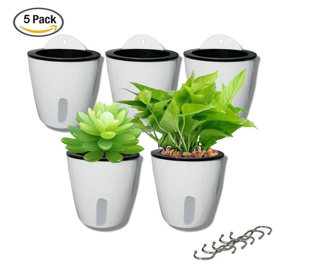 Cheap flower pots indoor plants find flower pots indoor plants get quotations 5 pack visible water level lazy flower pots water plants pots self watering planter hanging planters izmirmasajfo