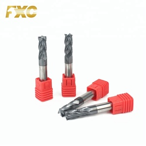 Solid Carbide HRC45 4Flutes Roughing End Mill Cutter