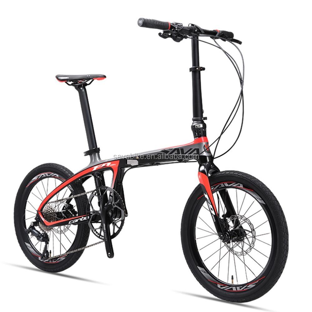 Alibaba.com / 8.5kg light weight carbon china folding bike 20 speeds disc brake folding bike mini 20 inches wheel folding bicycle