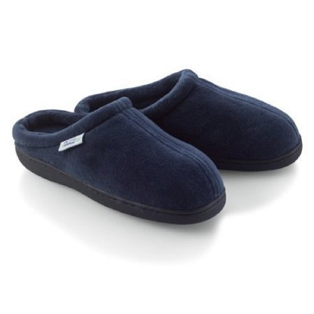 Home-X Memory Foam Slippers. Navy Blue (Small - Fits women's 6½-8½; men's 6-7)