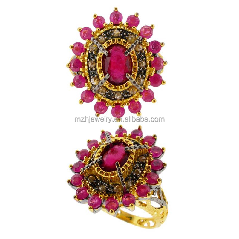 Best factory price wholesale high quality colorful stone latest gold finger ring designs for women