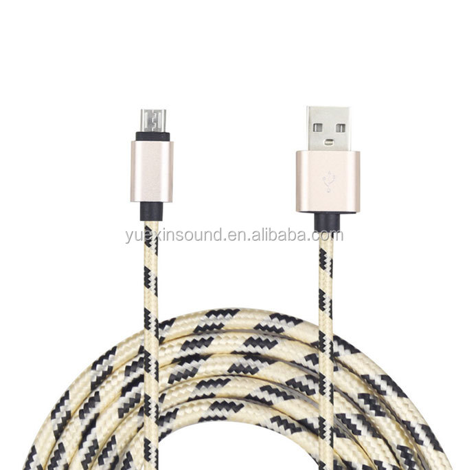 Braided Fabric Durable C48 2.4A Fast Charging Data Line Original MFI LED USB Cable