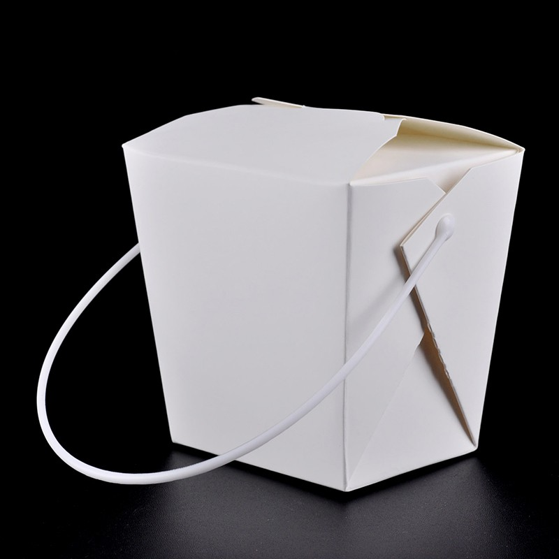 Disposable Paper Lunch Box with Handle Eco Friendly 4 size Takeaway Cake  Dessert Box Party Supplies SK730
