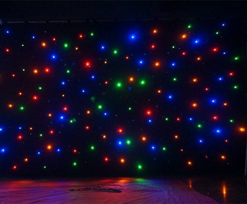 Concert Background Cloth Light Led Star Curtain Buy Led