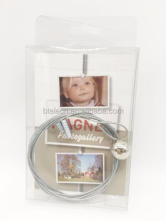 1.5m clear silver cable photo holder magnetic photo holder wire photo holder with 8 strong magnetic pins