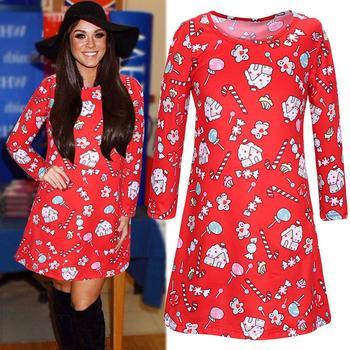 2018 Dress Suit Women One Piece Garment Red Skirt Indonesia Uk