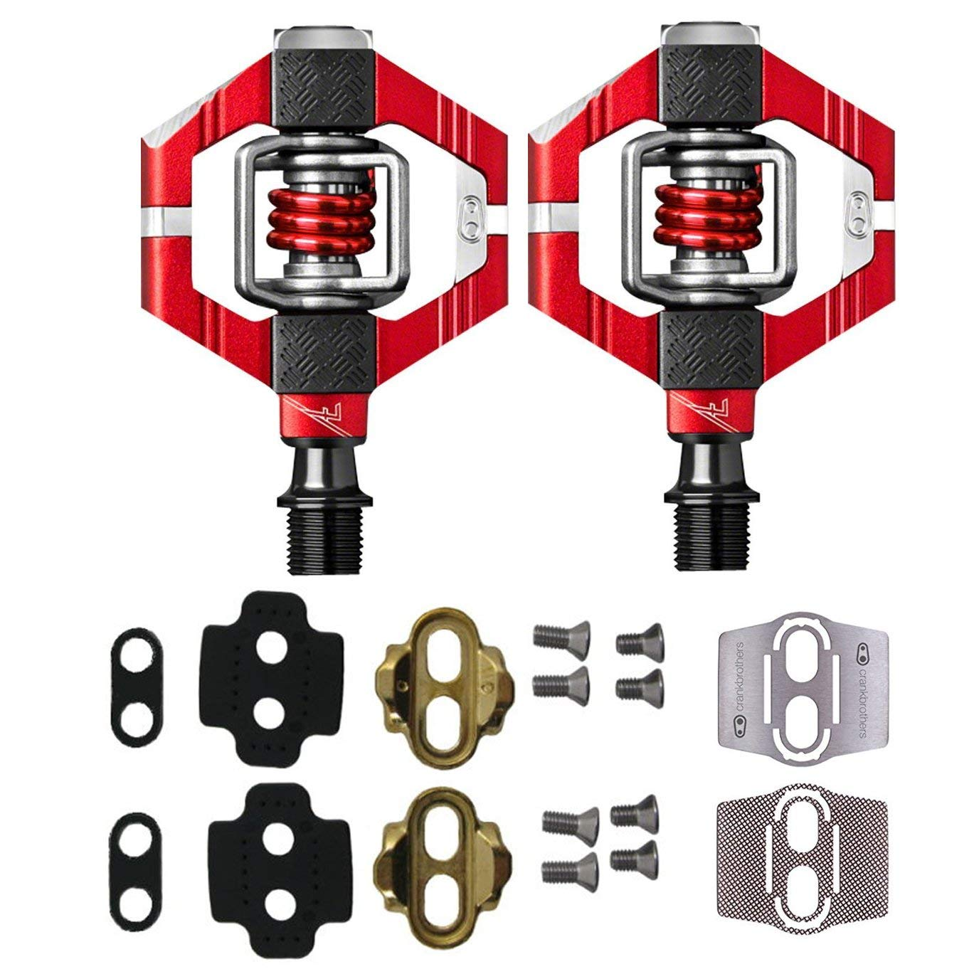 "New Bicycle Translucent Resin Body 745p PC Pedals 9//16/"" Red."