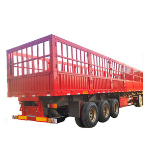 very popular China manufacturer 3 axle utility fence semi trailer for food or horse