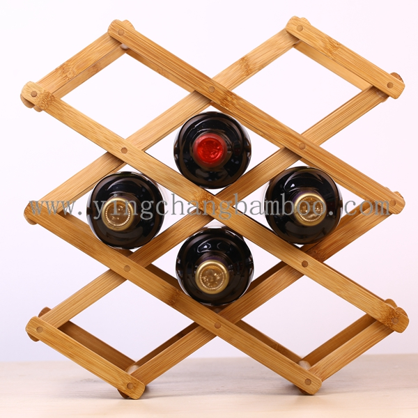 Bamboo wine stopper display rack