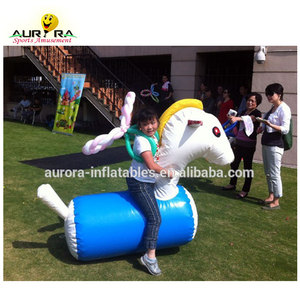 Customized Adult And Kids Outdoor Game Toy Jumping Bouncing Pony Hop Racing carnival Inflatable pony Horse For Sale