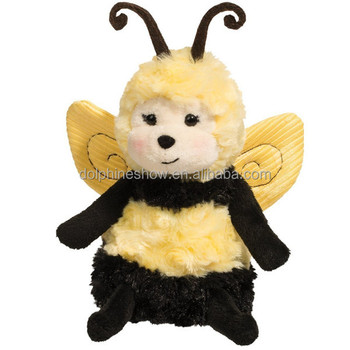 Beautiful Yellow Bumble Bee Plush Toy With Wings Custom Cute Cartoon