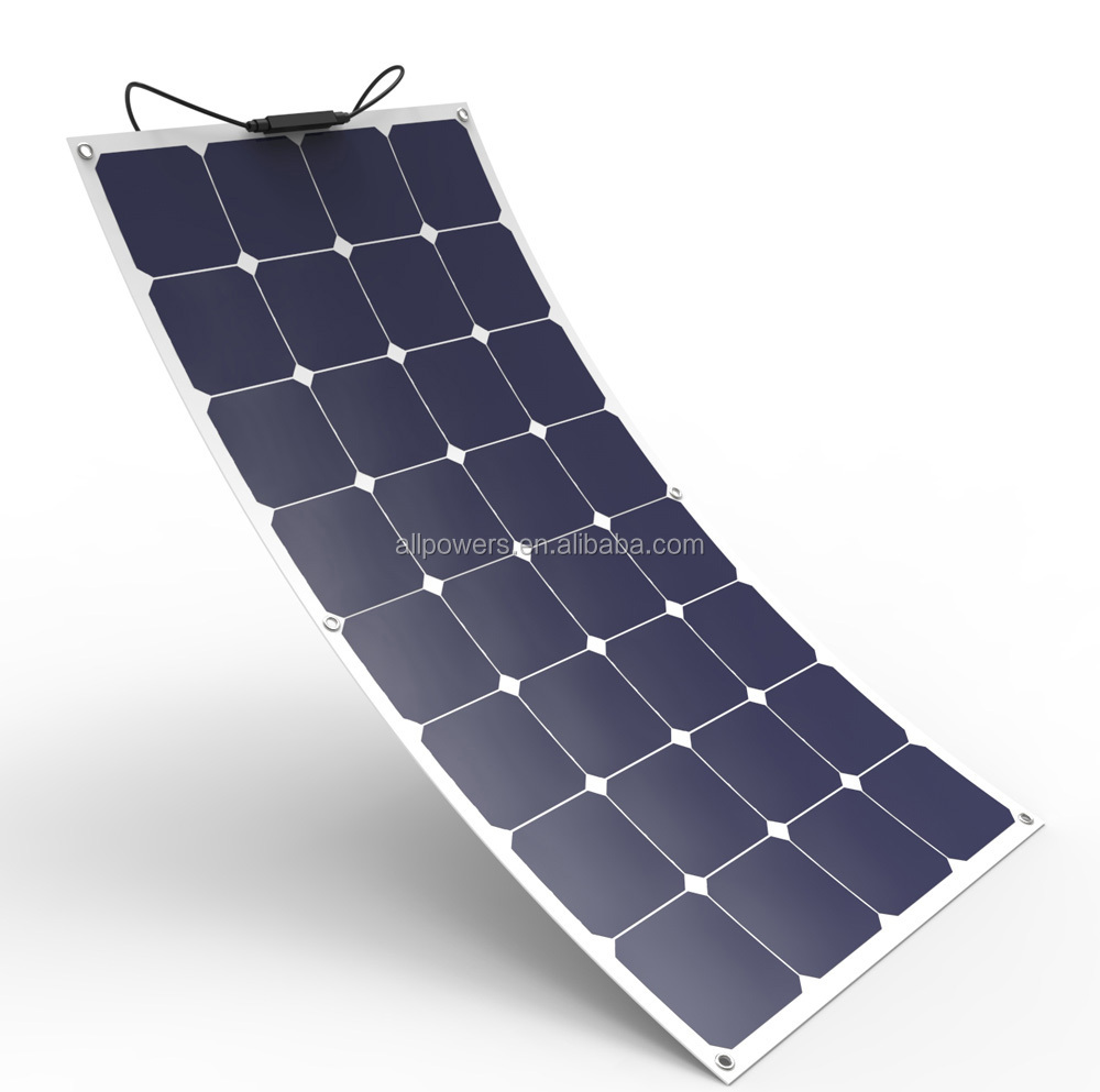 High efficiency SunPower cell Semi Flexible solar panel 100W 200W for boat cabin tent RV фото